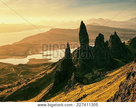 Famous View To Old Man Of Storr Skye, Scotland