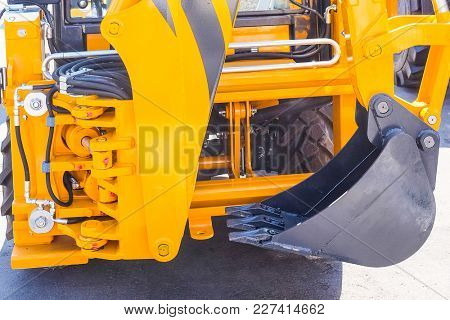 Part of tractor close up