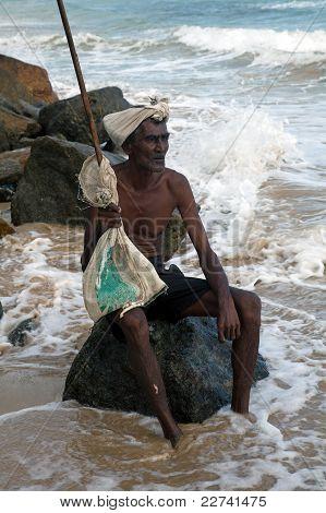 Old man from Sri Lanka