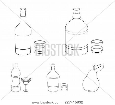 Whiskey, Liquor, Rum, Vermouth.alcohol Set Collection Icons In Outline Style Vector Symbol Stock Ill