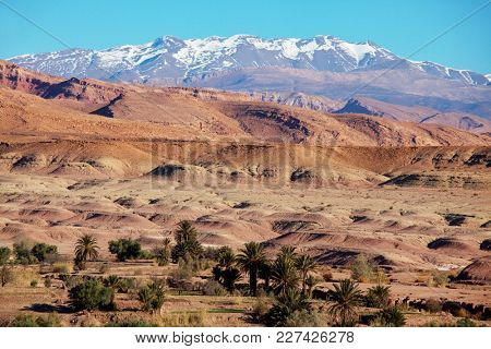 Atlas Mountain landscapes in Morocco