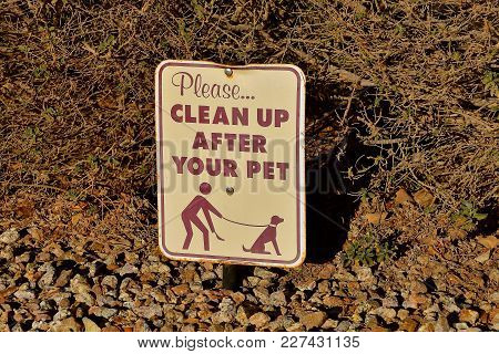 A Sign Reminding Pet Owners To Clean Up After Your Pet