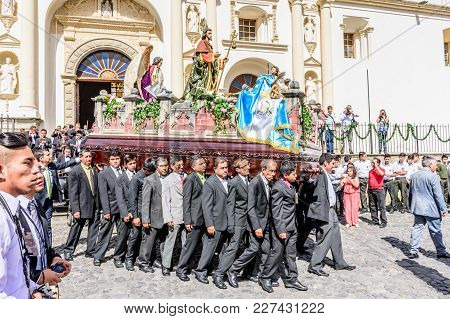 Procession On St Jame's Day, Antigua, Guatemala