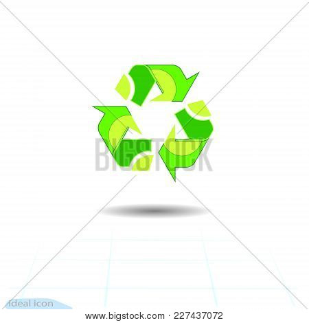 Recycled Eco Vector Icon. Recycle Arrows Ecology Symbol. Recycled Cycle Arrow. Vector Illustration I