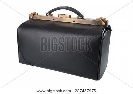 Black Doctor Bag Isolated On White Background