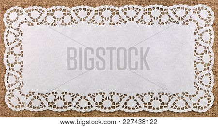 Beautiful Decorative Lace Dolly On Bright Background