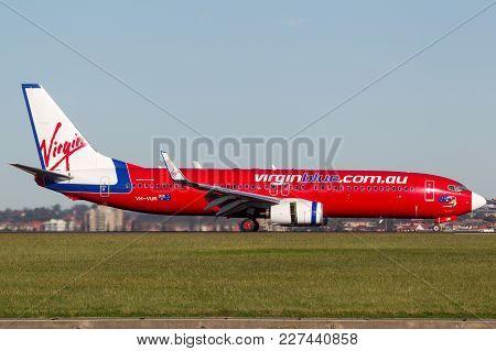 Sydney, Australia - May 5, 2014: Virgin Blue (virgin Australia Airlines) Boeing 737-800 Aircraft At