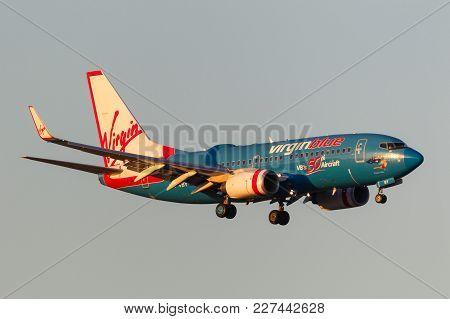 Melbourne, Australia - September 25, 2011: Virgin Blue Airlines 50th Aircraft Boeing 737-7fe Vh-vby