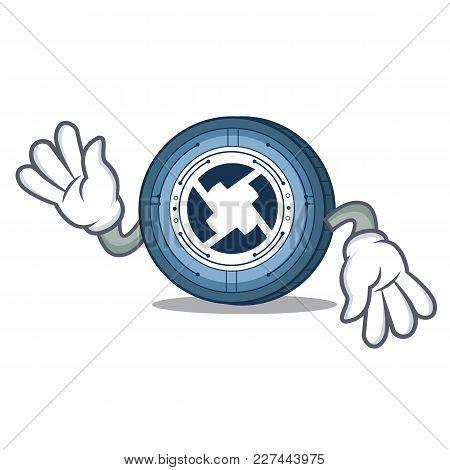 Crazy 0x Coin Mascot Cartoon Vector Illustration