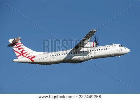 Sydney, Australia - May 5, 2014: Virgin Australia Airlines Atr Atr 72-600 Twin Engined Aircraft.