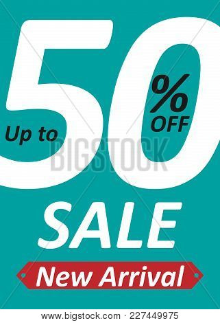 Banner Up To 50% Off Sale New Arrival Vector Image