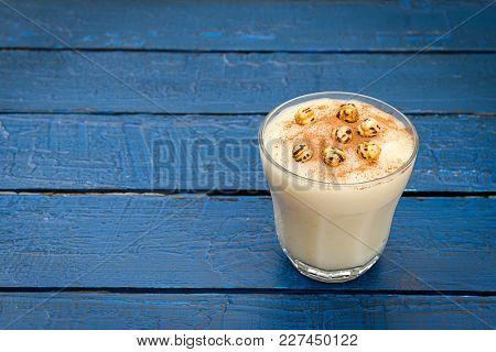 Turkish drink called Boza with space for your text