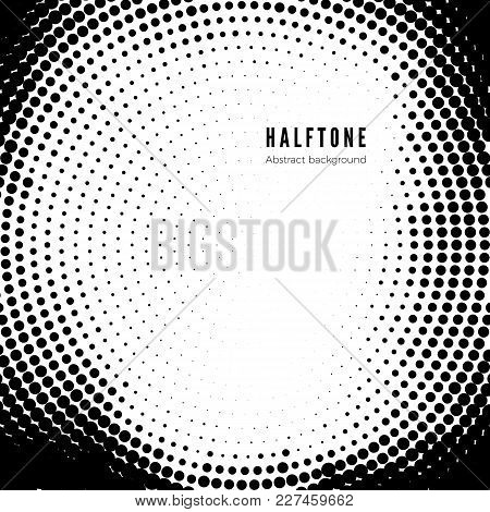 Black Halftone Pattern On White Background. Halftone Texture. Vector Illustration