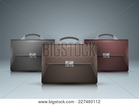 Briefcase, Office - Color Business Infographic Vector Eps 10