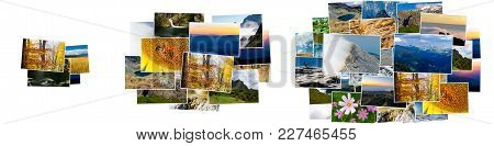 Small, Medium And Large Pile Of Photos. Image Hosting Pricing Plans, Compare Service Or Product Size