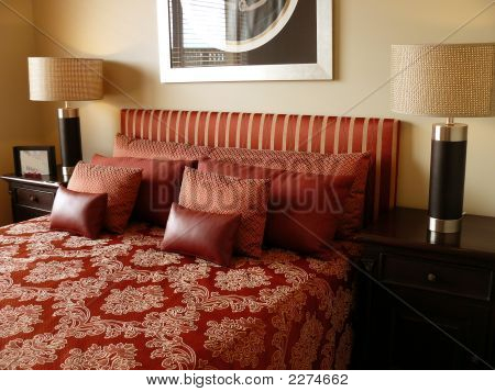 Red Luxury Bedroom
