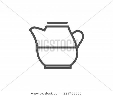 Milk Jug For Coffee Icon. Fresh Drink Sign. Beverage Symbol. Quality Design Element. Editable Stroke