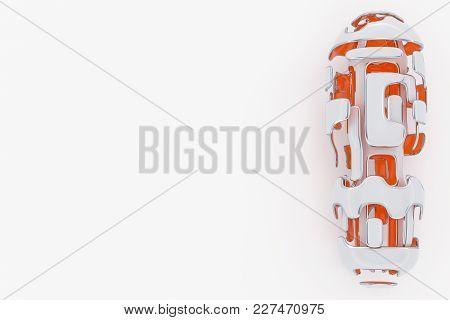 Concept Of Hi-tech Technology. 3d Rendering Abstarct Futuristick Background.