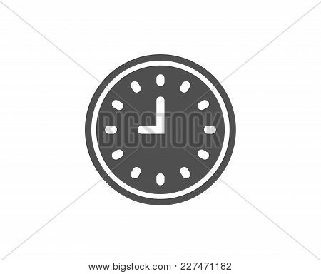 Clock Simple Icon. Time Sign. Office Watch Or Timer Symbol. Quality Design Elements. Classic Style.