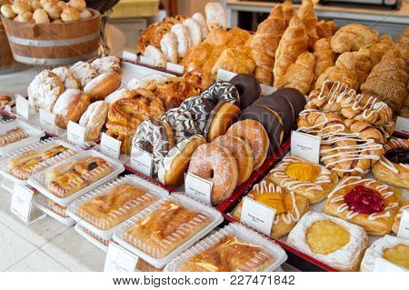 Bread And Bakery Corner At Bakery Store
