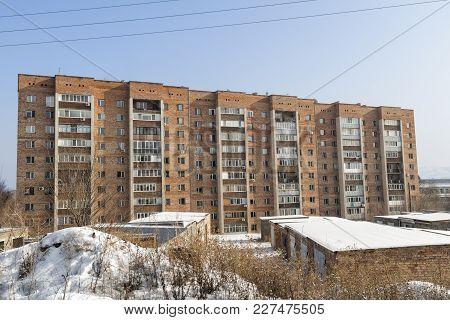 Multi-storey Apartment Building. Apartment Block. Residential Building. Modern Architecture
