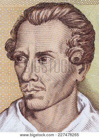 Juliusz Slowacki Portrait From Polish Money - Zloty