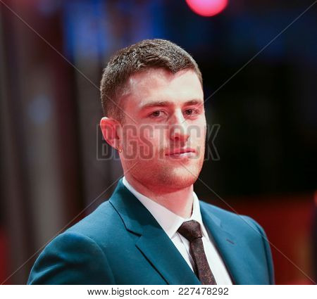 James Frecheville attends the 'Black 47' premiere during the 68th Berlinale International Film Festival Berlin at Berlinale Palast on February 16, 2018 in Berlin, Germany.
