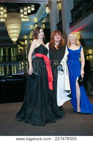 Emily Mortimer, Isabel Coixet, Patricia Clarkson attend the 'The Bookshop' premiere during the 68th Film Festival Berlin at Friedrichstadtpalast on February 16, 2018 in Berlin, Germany.
