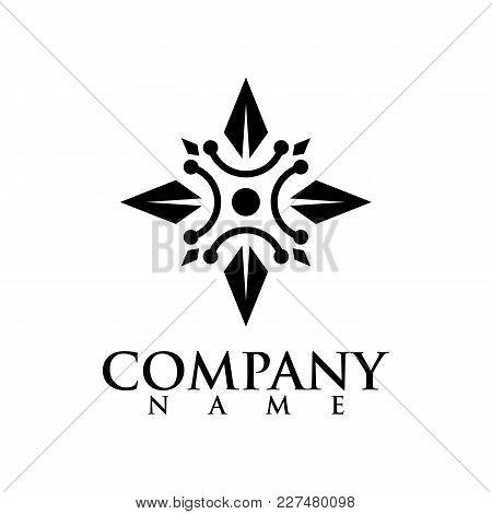 Star Logo - Vector Logo Concept Illustration. Star And Stripes Vector Logo. Star Abstract Logo. Vect