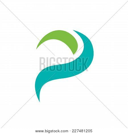 Simple And Clean Letter P Logo Template. Unique Letter P Logo Isolated On White Background. Availabl