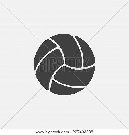 Volleyball Icon Vector Illustration. Game Icon Vector