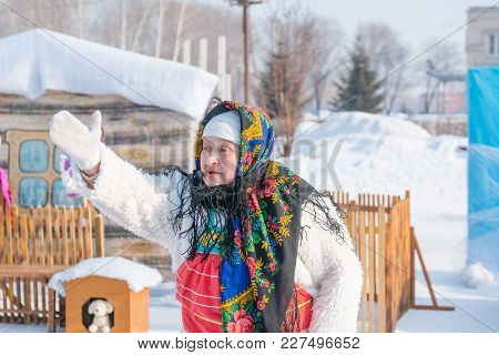 People Celebrate Carnival. The Slavs Celebrate The Winter. People See Off Winter. Costume Show.