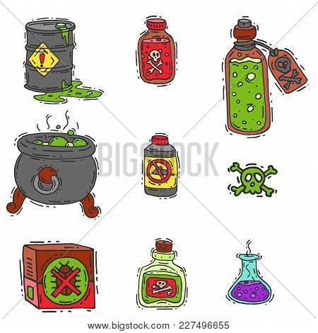 Bottle With Potion Game Magic Glass Elixir Poisoning Toxic Substance Dangerous Toxin Drug Container