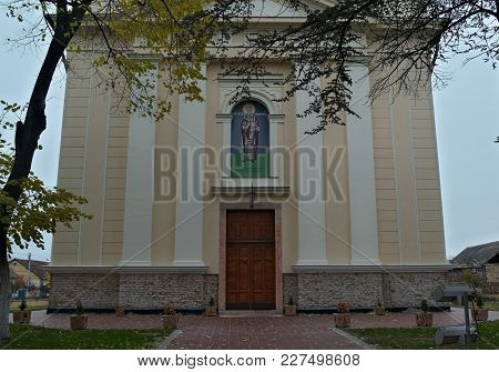 Front Entrance Into Orthodox Church In Kac, Serbia