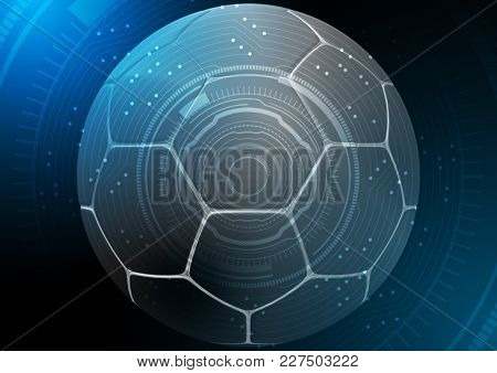 A Dark Synthetic Soccer Ball In A Traditional Shape With A Dimple Textured Surface Overlaid With A T