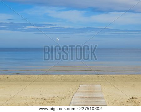 Beautiful View Of The Gulf Of Riga, In The Early Spring In Latvia