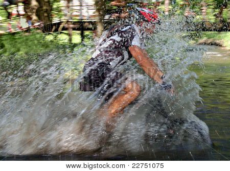 wading biker