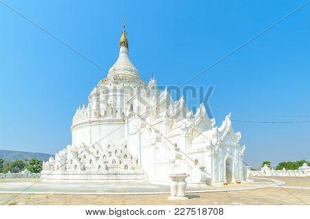 Hsinbyume Or Myatheindan Pagoda In Mingun, Myanmar
