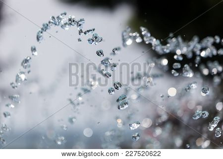 The Gush Of Water Of A Fountain. Splash Of Water In The Fountain, Abstract Image