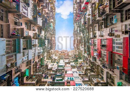 Low Angle View Of Yichang Building In Hong Kong, China