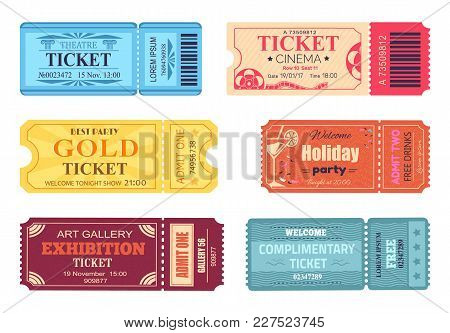 Theatre Cinema Ticket Best Party Gold Welcome Holiday Art Gallery Complimentary Free Coupon With Con