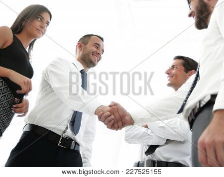 handshake business partners.the business concept.