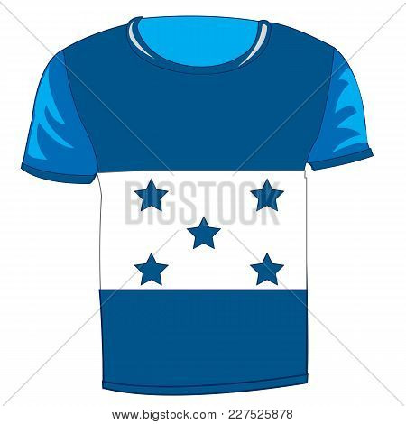 T-shirt Flag Honduras On White Background Is Insulated