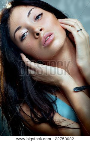 Closeup Of Young Attrctive Woman