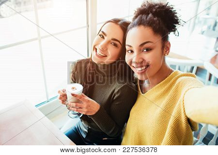 This Is A Selfie Of Two Beautiful Girls That Look So Amazing And Happy At The Same Time. They Are In