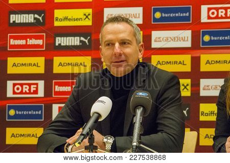 Moedling, Austria, 23th November 2017: Dominik Thalhammer At Press Confernce Fifa Wm Qualification L