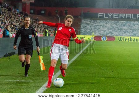 Moedling, Austria, 23th November 2017: Nina Burger At Fifa Wm Qualification Ladies Austria Vs Isreal