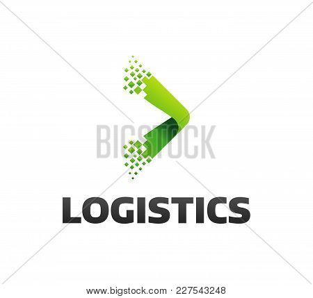 Logistic Company Vector Logo. Arrow Icon. Delivery Icon. Arrow Icon. Arrow Vector. Delivery Service