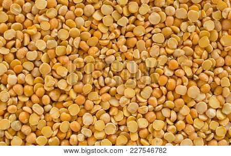 Natural Background - Dried Pea Seeds Closeup.