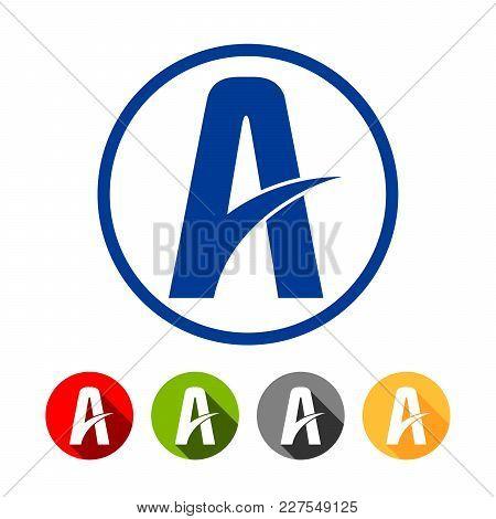 Highway Lane Letter A Symbol Vector Graphic Design